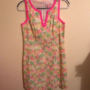 Lilly Pulitzer neon multicolor shift dress, size 6